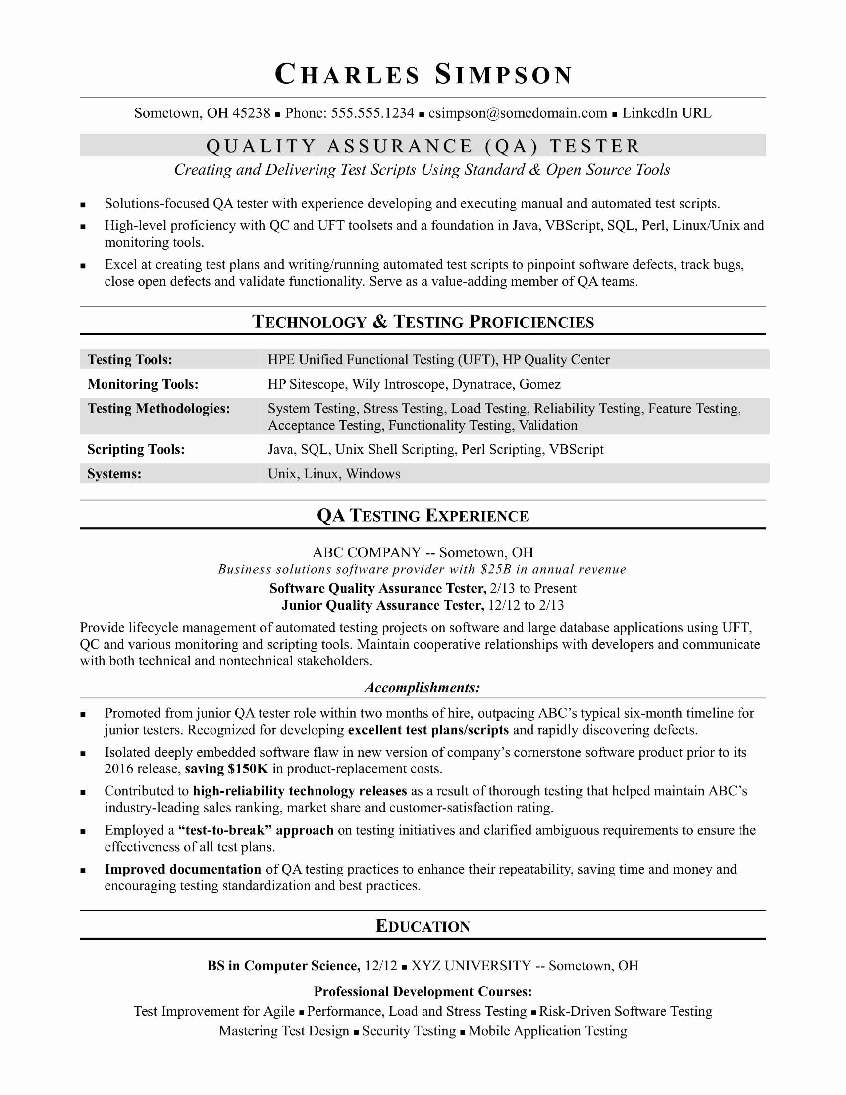 Entry Level Qa Tester Resume Unique Jobs Las Vegas Review Journal In 2020 Resume Examples Cv Examples Job Resume Examples