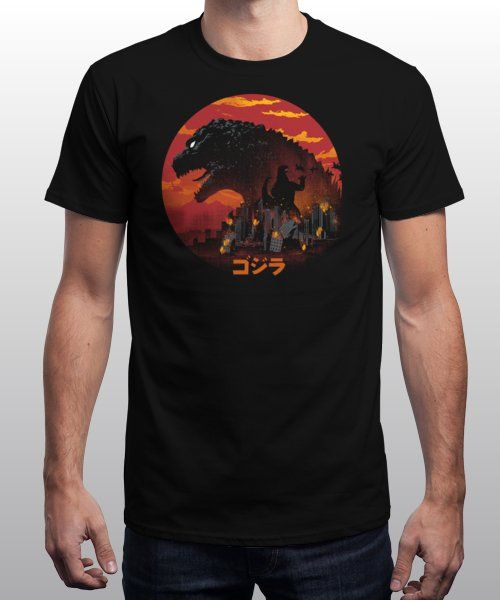 """""""The King Kaiju"""" is today's £9/€11/$12 tee for 24 hours only on Pin this… 