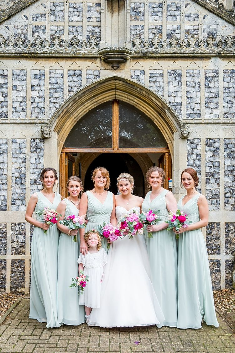Pretty meets relaxed countryside wedding countryside wedding long sage pale green bridesmaid dresses pretty relaxed countryside wedding httpkatherineashdown ombrellifo Choice Image