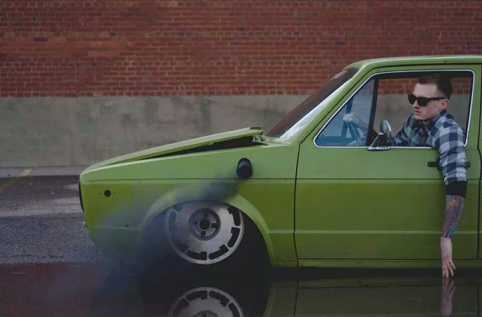 Slammed Vw Rabbit Rollin Coal Dream Cars Pinterest