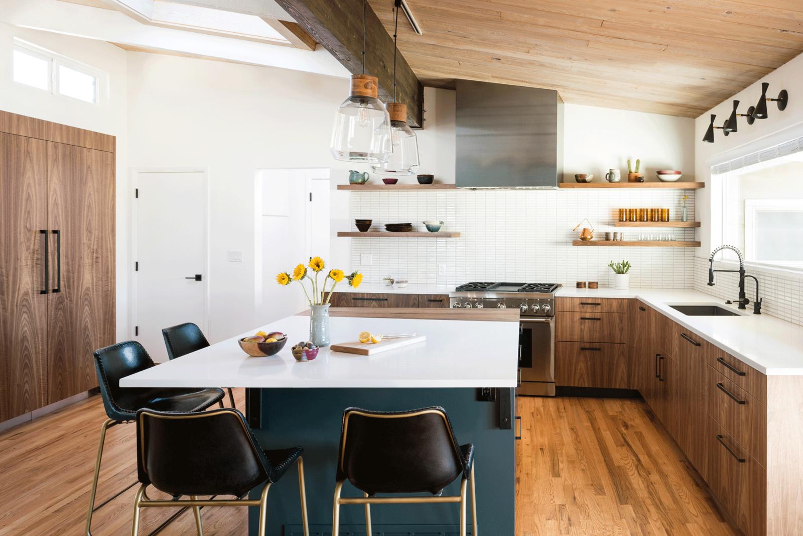 Boulder Kitchen Walnut Wood Kitchen Wood Kitchen Cabinets Modern Kitchen