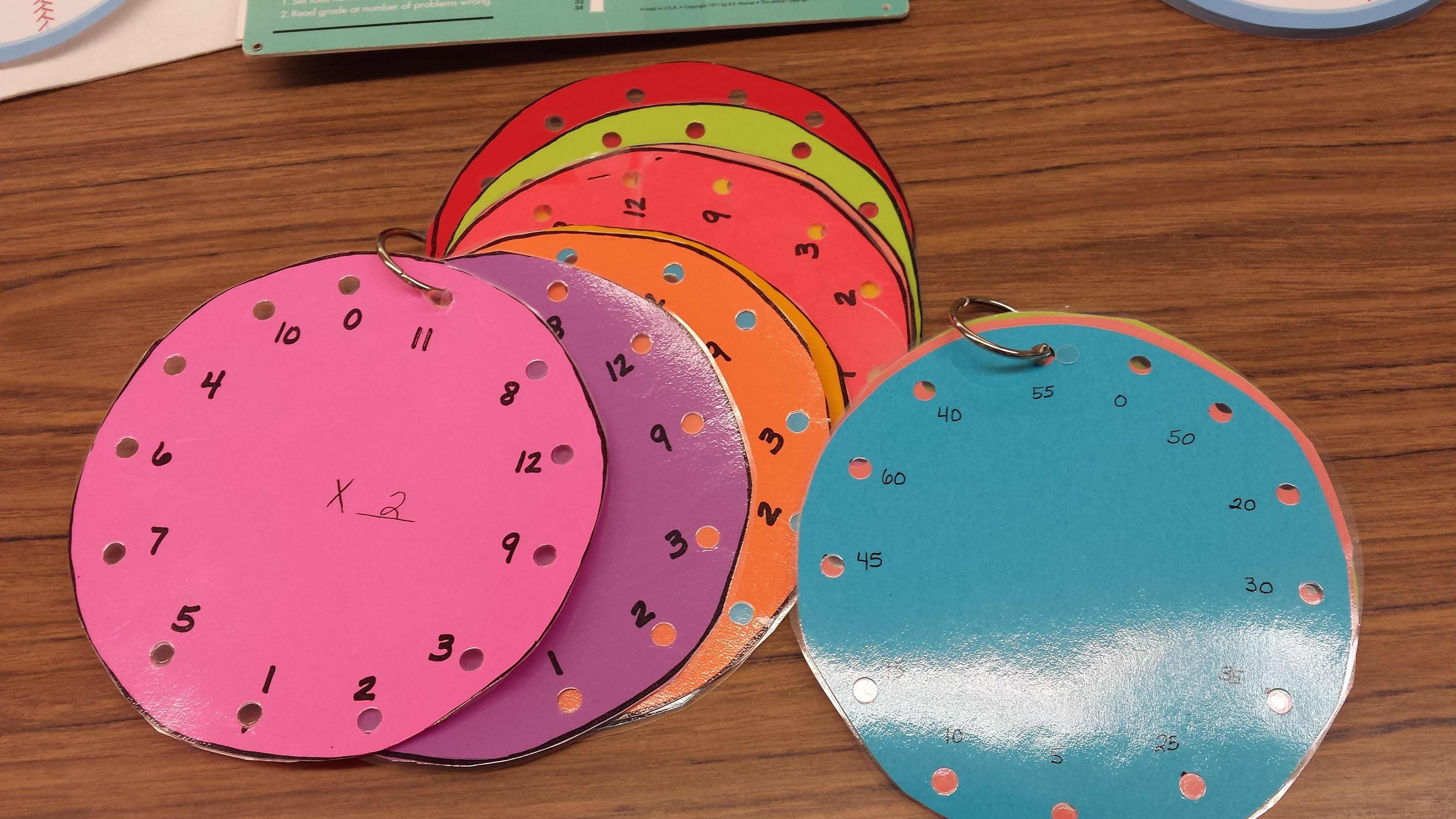 I Made Multiplication Wheels For Students To Practice