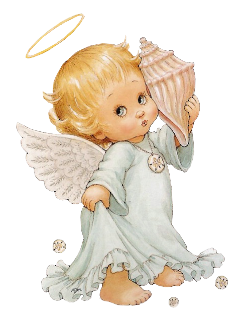 Cute Little Angel With Shell