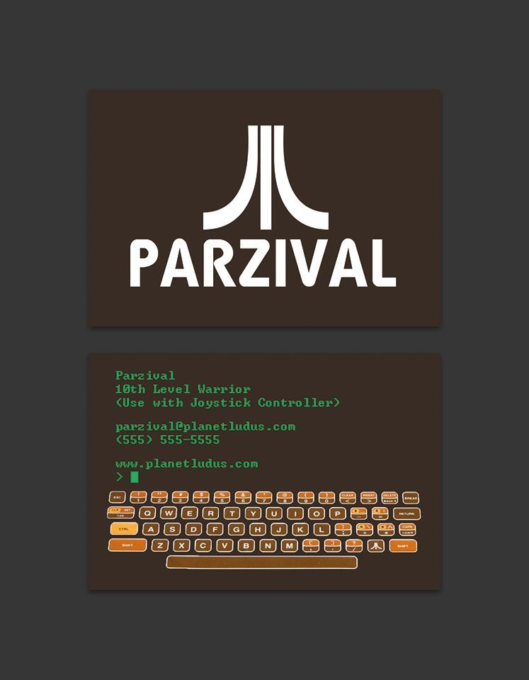 Ready Player One Business Card Atari By Sirmehr On Deviantart In 2020 Ready Player One Ready Player One Book Ready Player Two