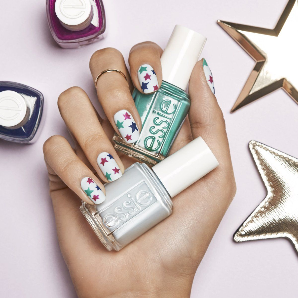 Stars on nails | Tips&Toes | Pinterest | Stud nails