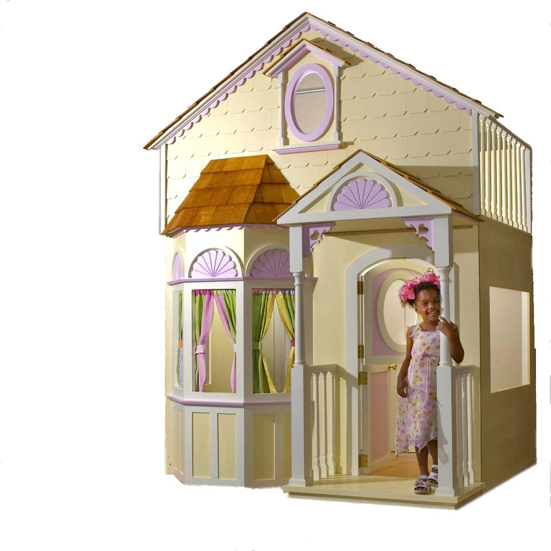 Girls DollHouse Bed with Slide