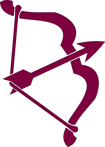 purple bow and arrow | Purple Bow And Arrow clip art