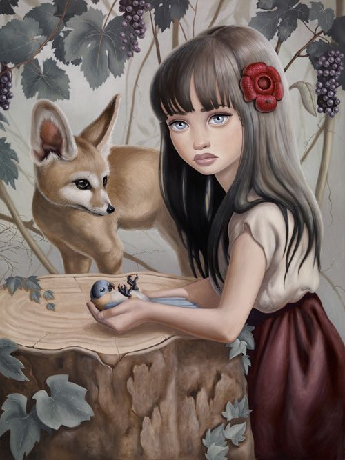 Fox and a Girl by ~anabagayan on deviantART
