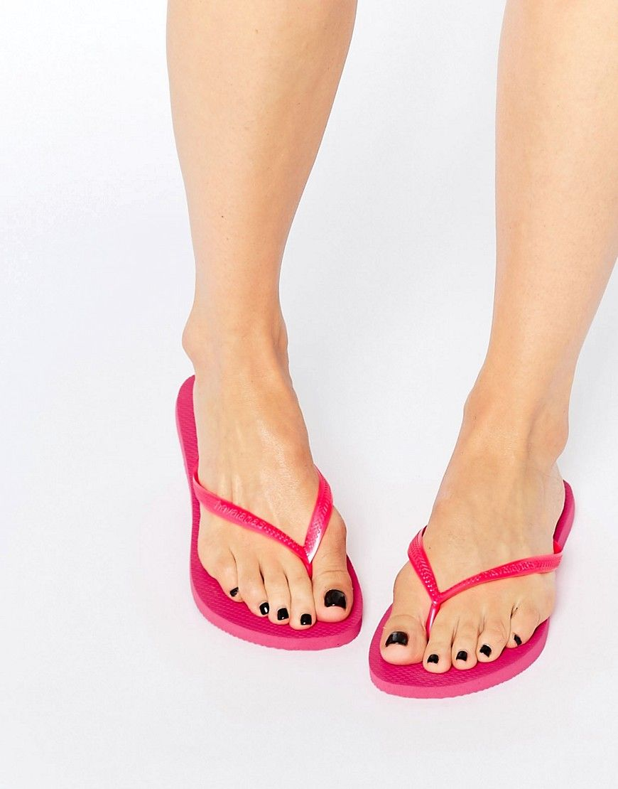 bf6a3e2e4d985 Havaianas Hot Pink Slim Flip Flops