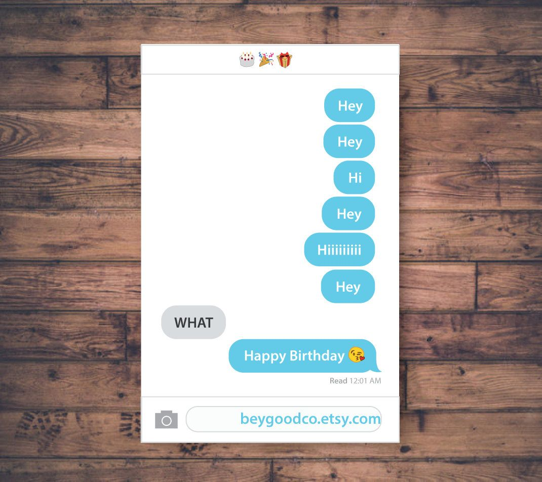 Printable Emoji Birthday Card