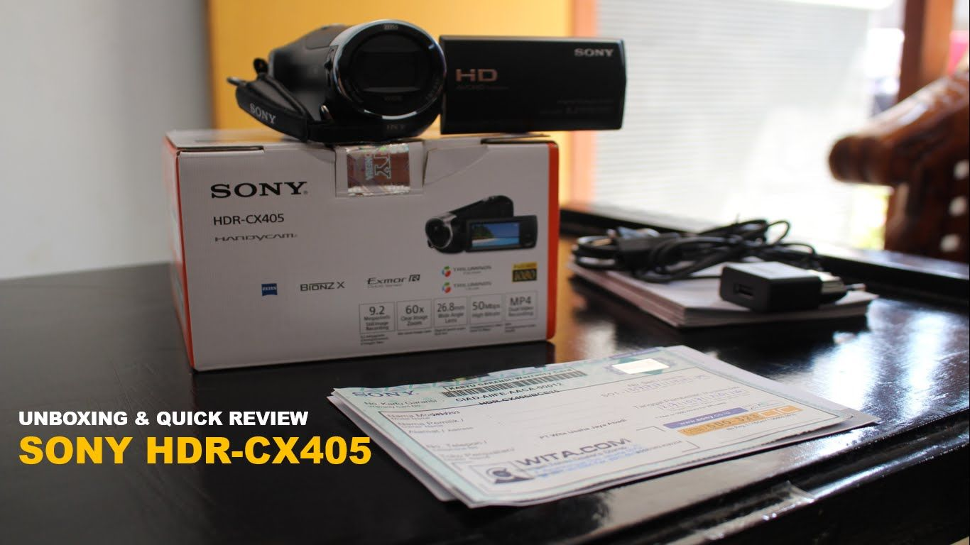 Sony HDR CX-405 Unboxing & Quick Review Indonesia