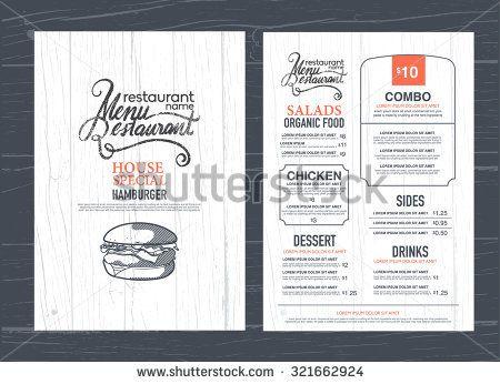 Vintage Restaurant Menu Design And Wood Texture Background Menu Design Menu Restaurant Restaurant Menu Design