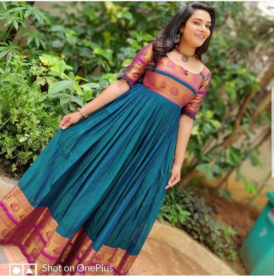 gowns from saree