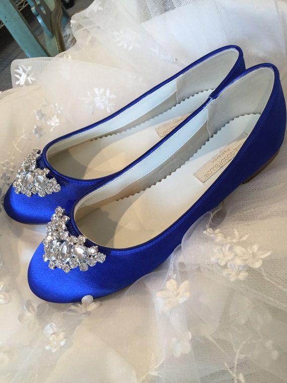 Shire Blue Flats Royal Wedding Shoes By Parisxox