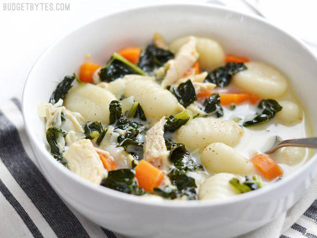 Kale Chicken And Gnocchi Soup Recipe Soup Pinterest Soup