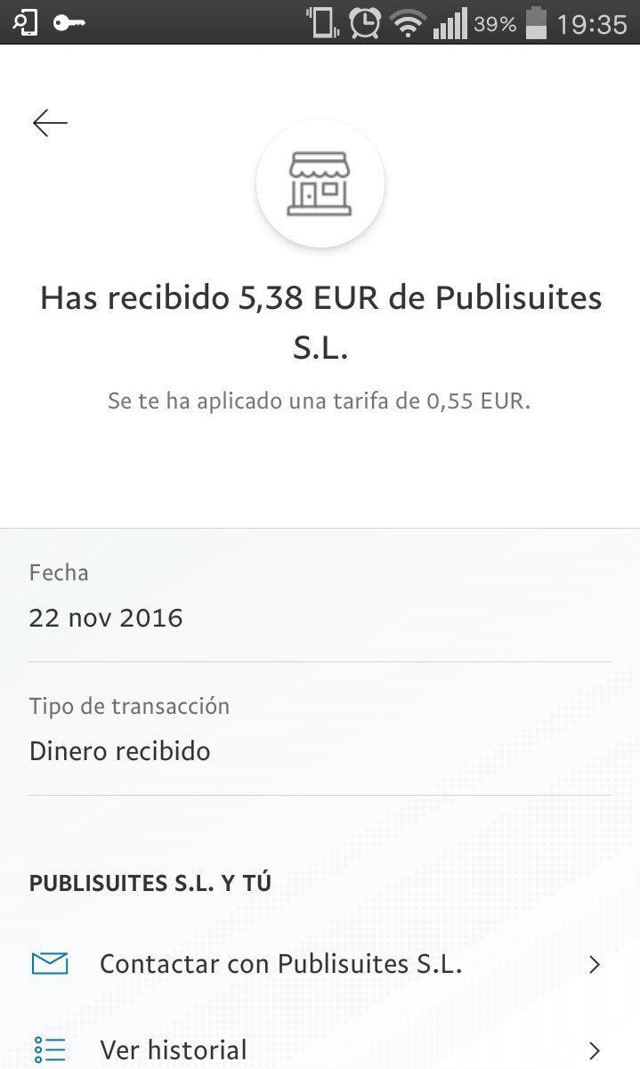 Comprobante de pago de @Publisuites por valor de 538 después de descontar tarifas e impuestos #comprobantedepago https://t.co/lPrpExGYgN