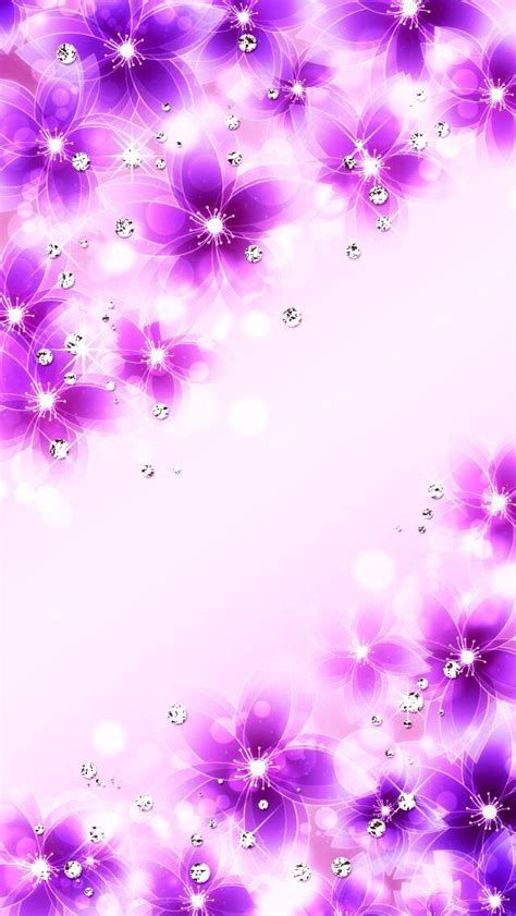 Sparkly Flowers | Flowery Wallpaper, Bling Wallpaper