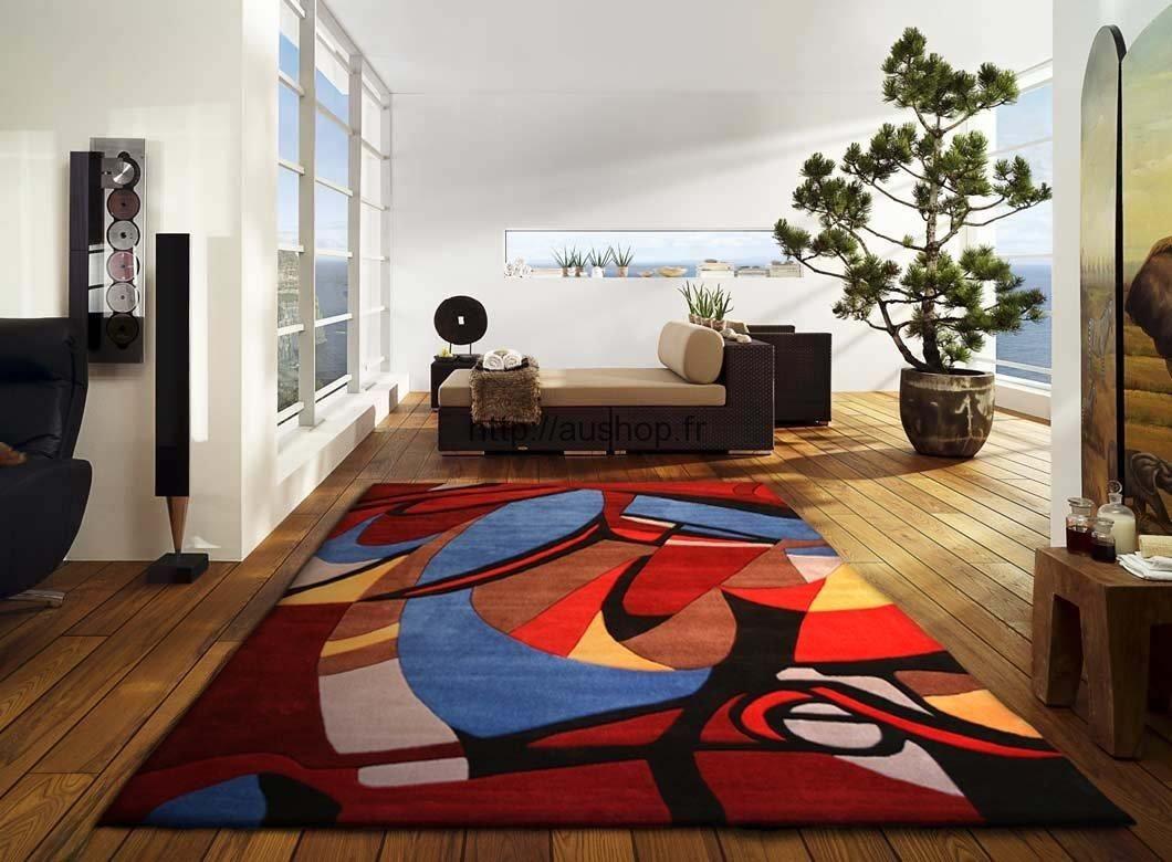 tapis design salon pas cher tapis rose
