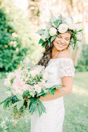 Spring Floral Wedding Kace Dress At The Bridal Cottage