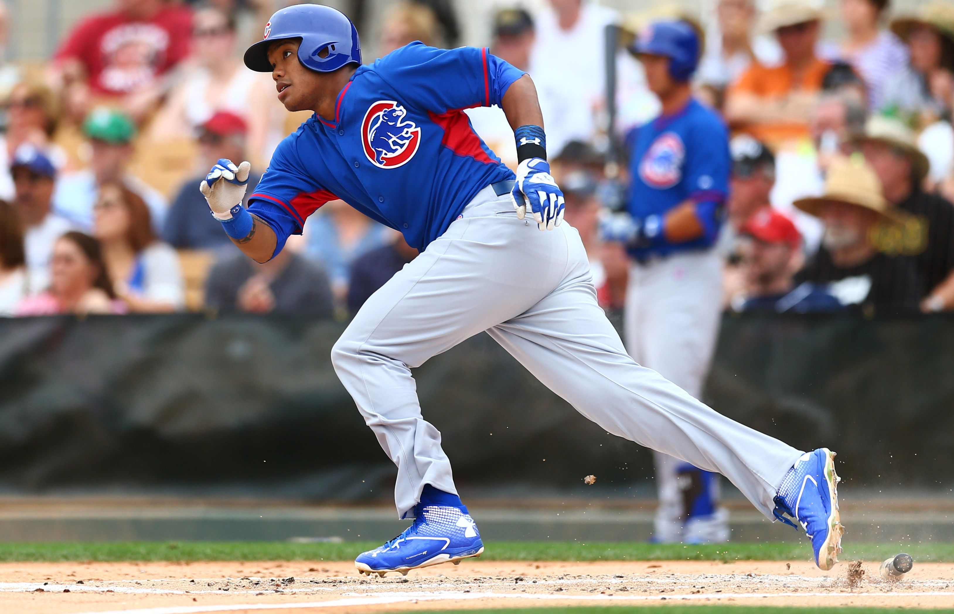 Chicago cubs addison russell during spring training