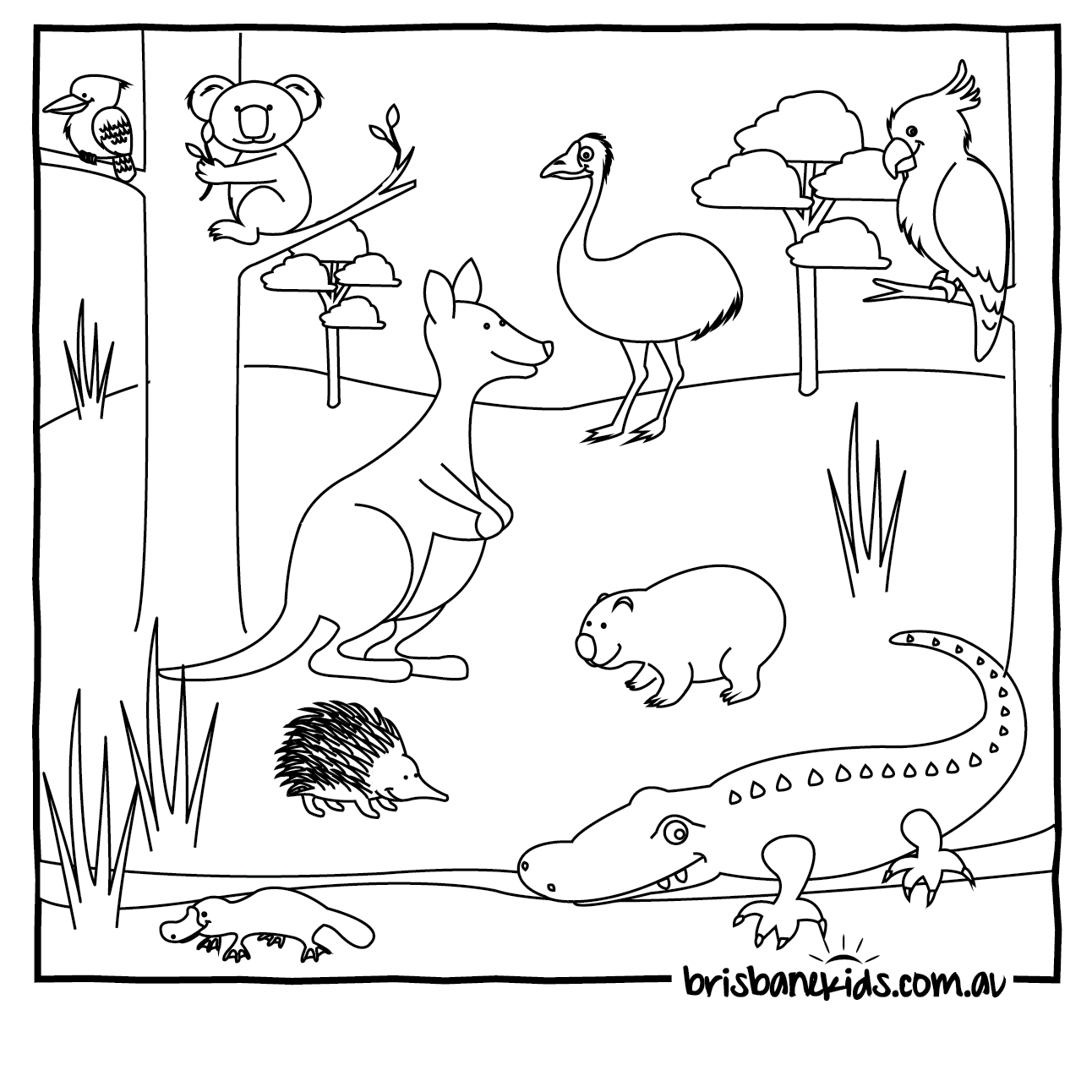 Australian Animals Colouring Pages | Coloring Pages of all ages ...
