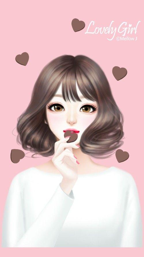Art Art Girl Background Beautiful Beautiful Girl Beauty Cartoon Chocolate Cute Art Design D Cartoon Girl Images Cute Girl Wallpaper Cute Girl Drawing