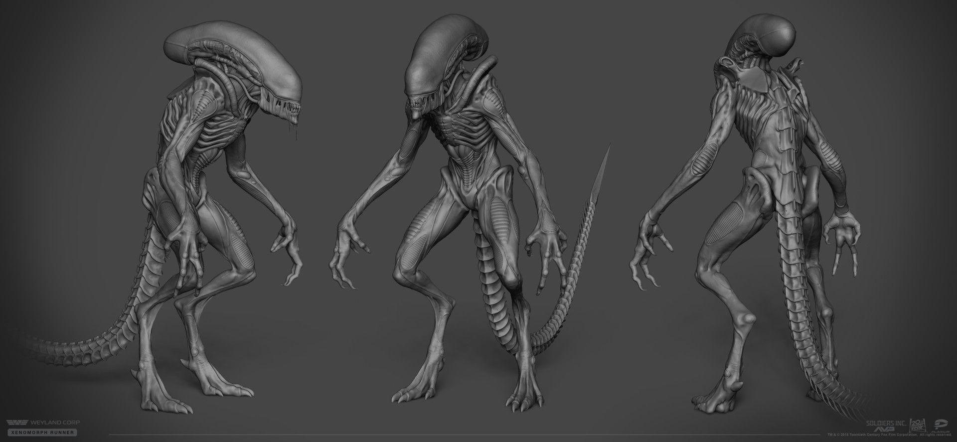 ArtStation - Xenomorph Runner, Danil Solovyov   Monster