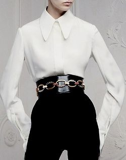 mcqueen resort 2013 I Love that waisteline the belt the blouse the pants the everything WOW!