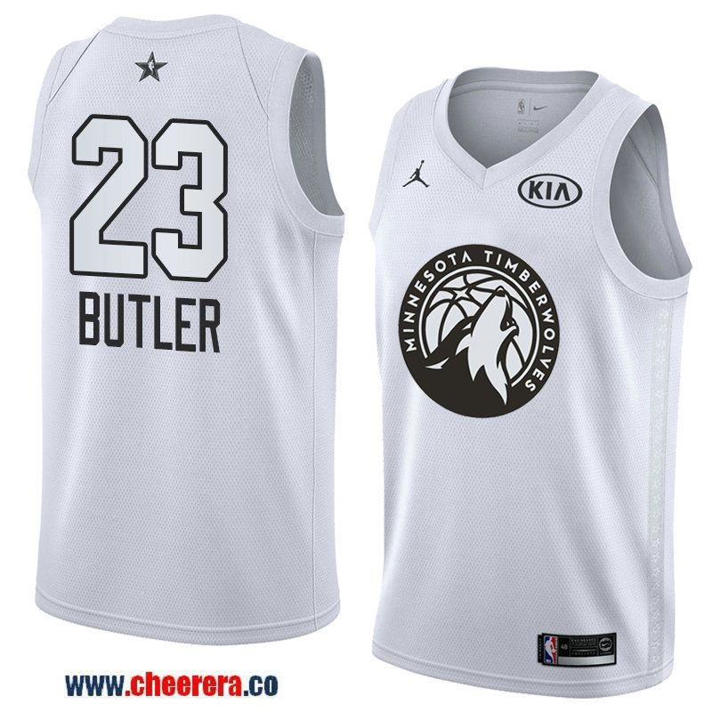 ab52caf2e73 men s western conference minnesota timberwolves  23 jimmy butler white 2018  nba all-star jersey