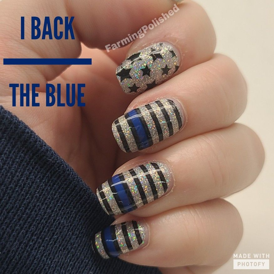 Color Street I Back The Blue In 2020 Color Street Nails Nail Color Combos Color Street