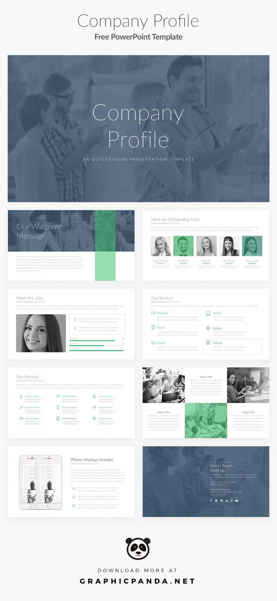 Free Profile Templates Powerpoint Template Company Profile  Work_Presentation  Pinterest .
