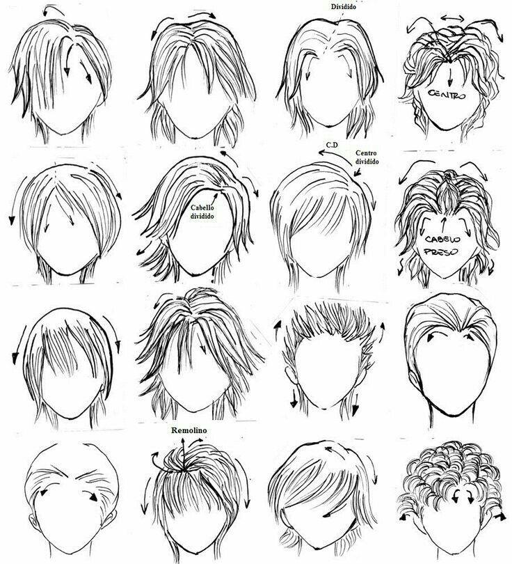 Bocetos Caras Manga Hair How To Draw Hair Drawing People