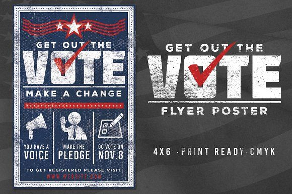 Vote Patriotic Election Flyer Poster by Lucion Creative on ...