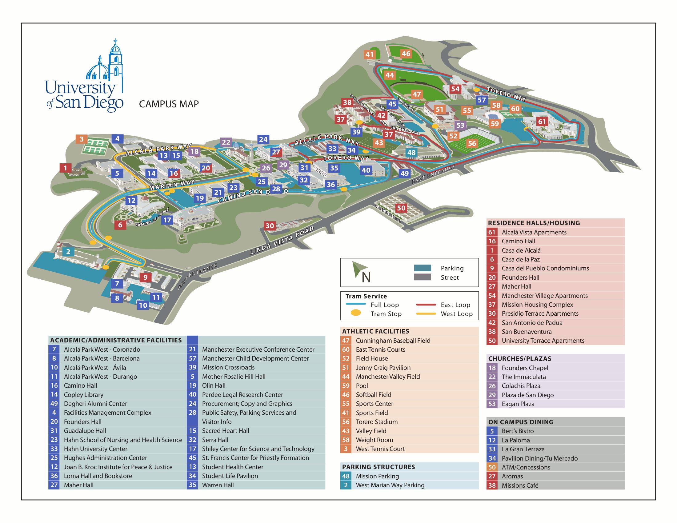 university of san go campus map google search dorm life