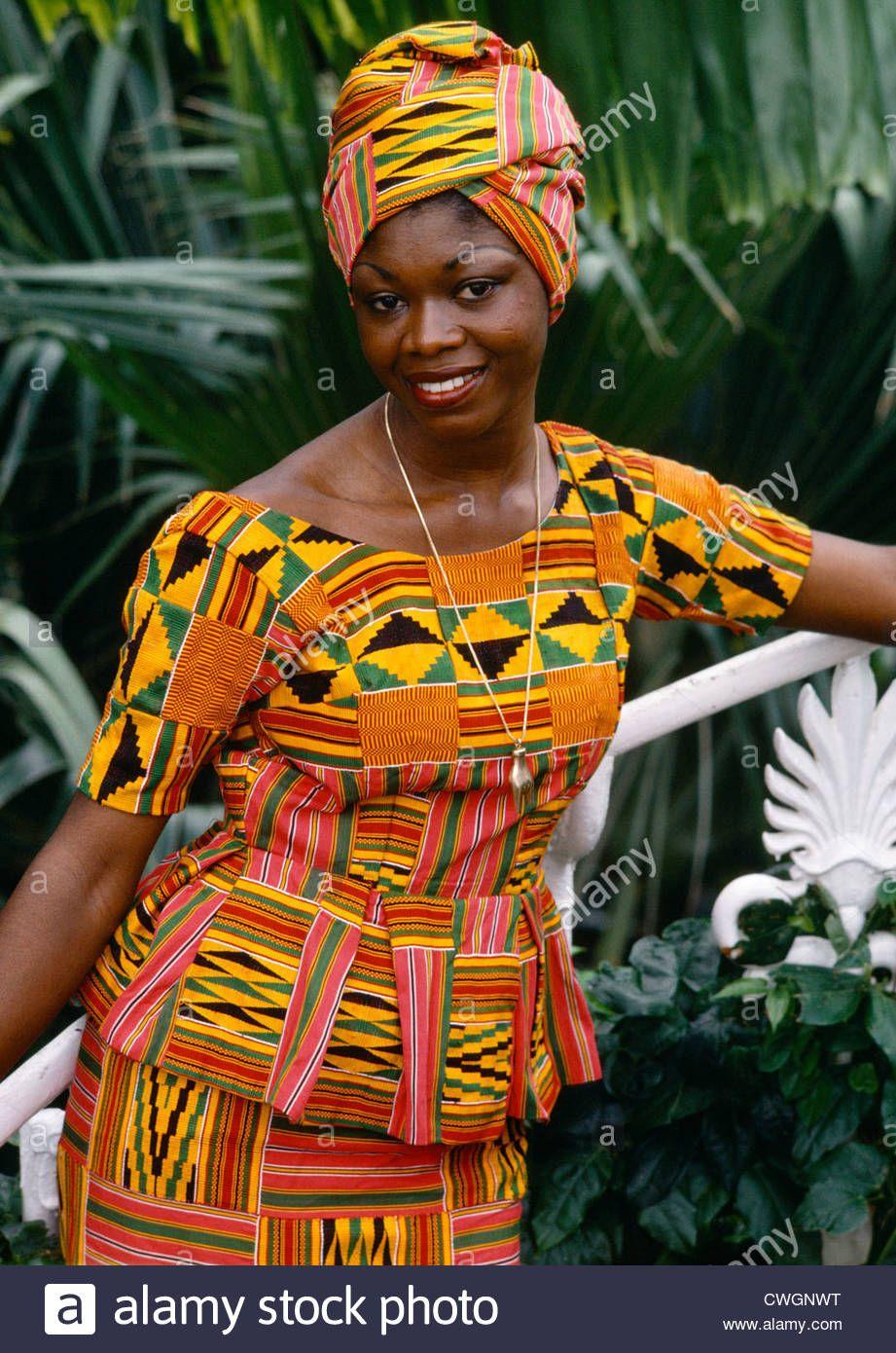 African Kente Cloth Dress
