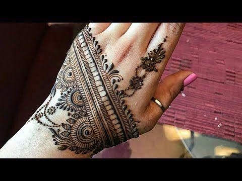 Henna Mehndi Edinburgh : Beautiful back hand mehndi design आसान सरल मेहंदी