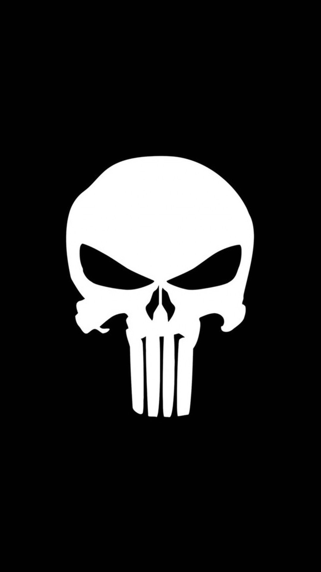 TAP AND GET THE FREE APP! Hard Scary Skull Black Punisher