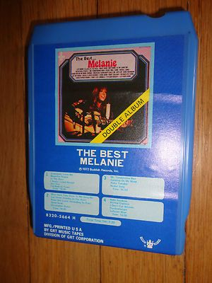 Vintage The Best Melanie 1972 8 track Music find me at www.dandeepo.com