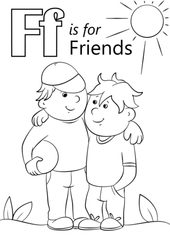 Letter F Is For Friends Coloring Page From Category Select 26736 Printable