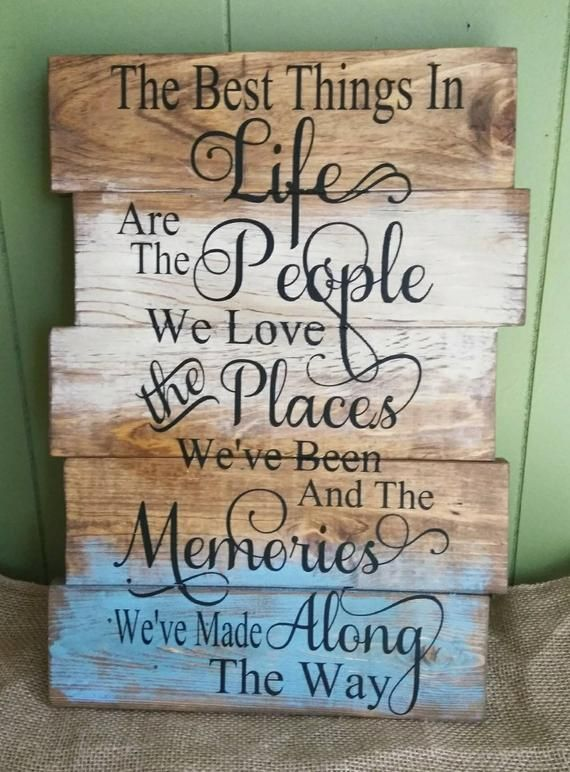 Set of two hand painted rustic signs