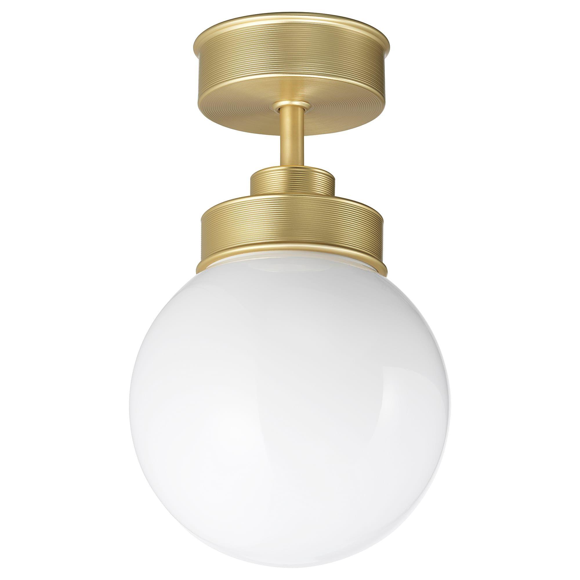 Frihult Brass Colour Ceiling Lamp Ikea In 2020 Deckenlampe Hangeleuchte Messingfarben