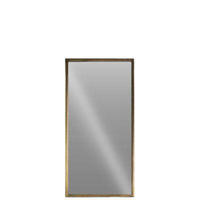 Urban Trends Metal Rectangular Full Length Wall Mirror Size: Small