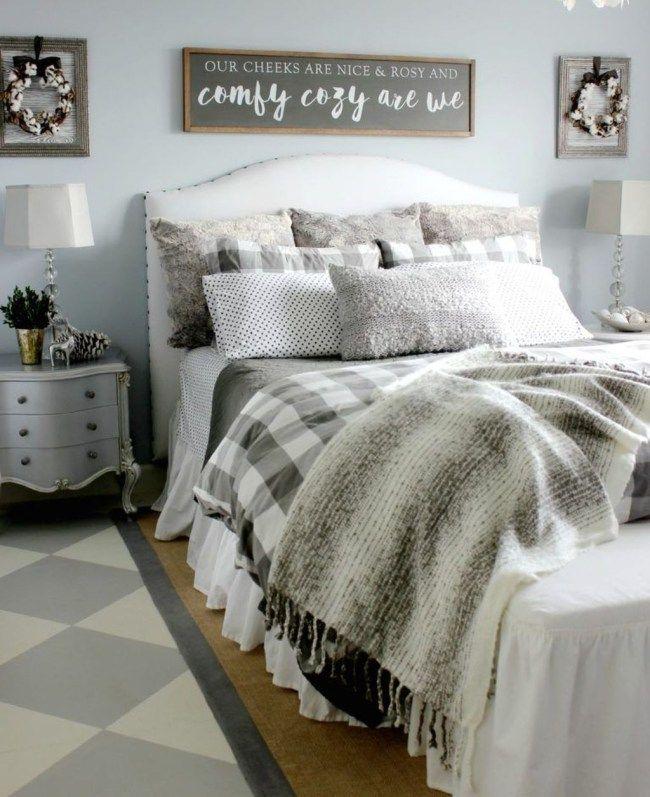 21 Cosy Winter Bedroom Ideas: 40 Simple Farmhouse Bedroom Decor Ideas