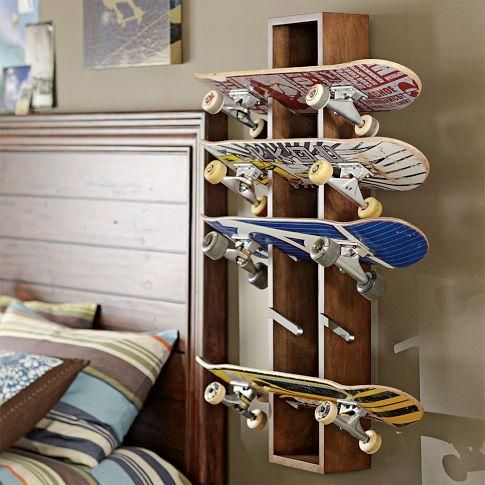 Merveilleux Rustic Skateboard Display How Cool For A Teen Or Any Boy That Like To Skate  Board!