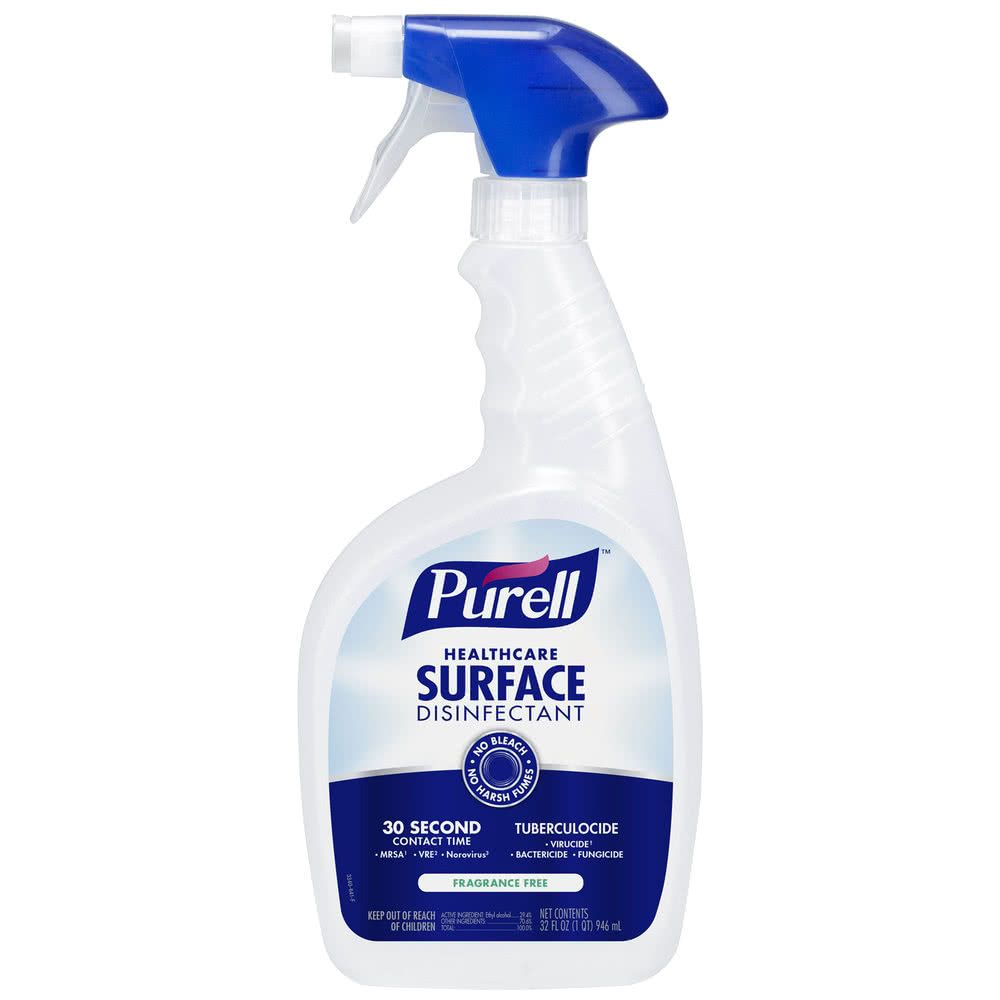 Purell 3340 12 1 Qt 32 Oz Fragrance Free Healthcare Surface Disinfectant 12 Case In 2020 Fragrance Free Products Disinfectant Spray Spray