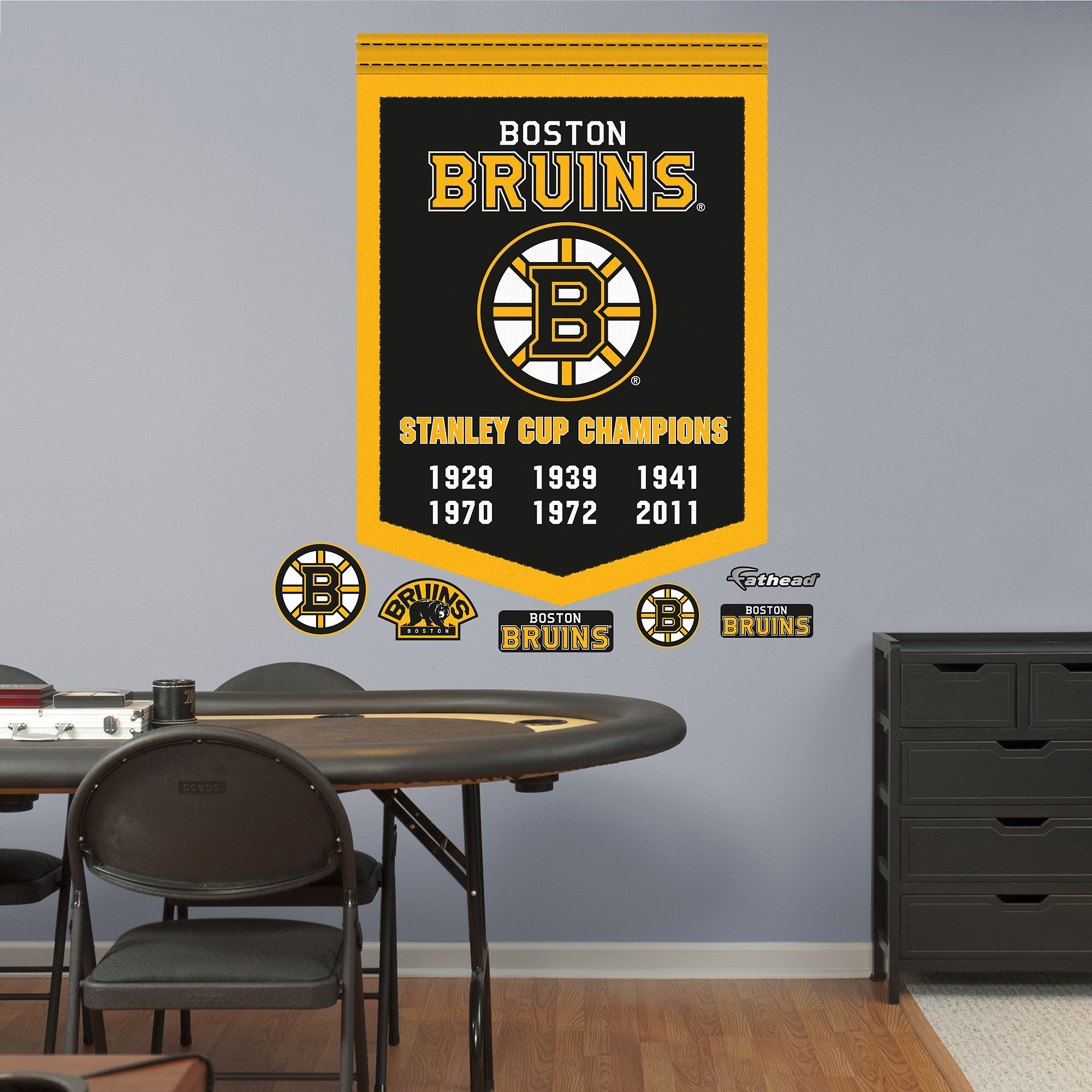 Boston Bruins Stanley Cup Champions Banner Zacharys Sports Page