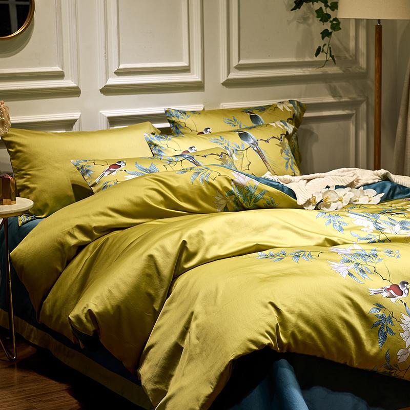 1000tc Egyptian Cotton Luxury Embroidery Duvet Cover In 2021 Duvet Cover Sets Egyptian Cotton Duvet Cover Bedding Set