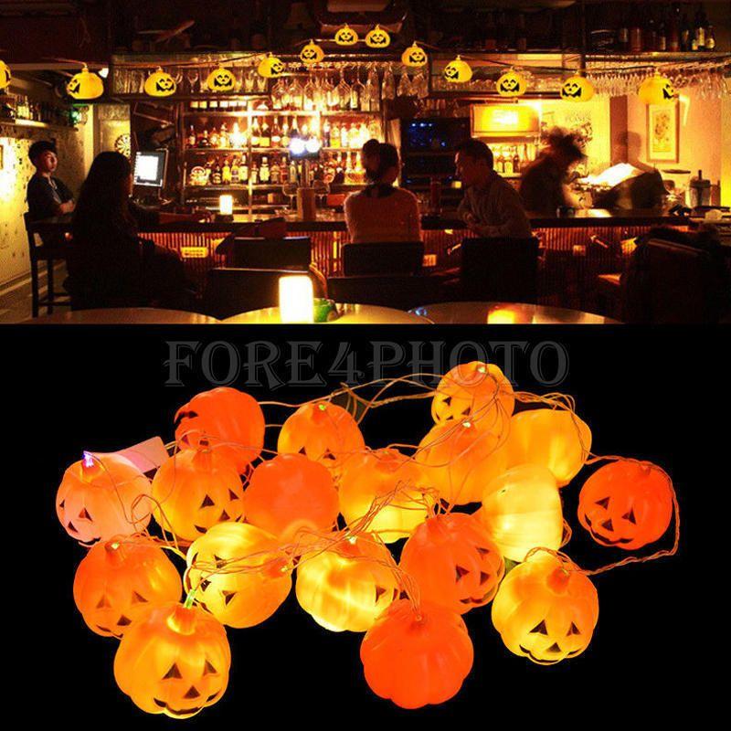 New 16 Pumpkins LED String Light Pumpkin Lights for Halloween