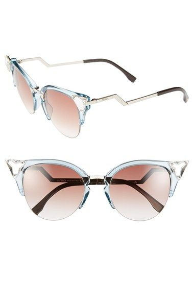 a5e8982e692 Fendi Crystal 52mm Tipped Cat Eye Sunglasses available at  Nordstrom ...