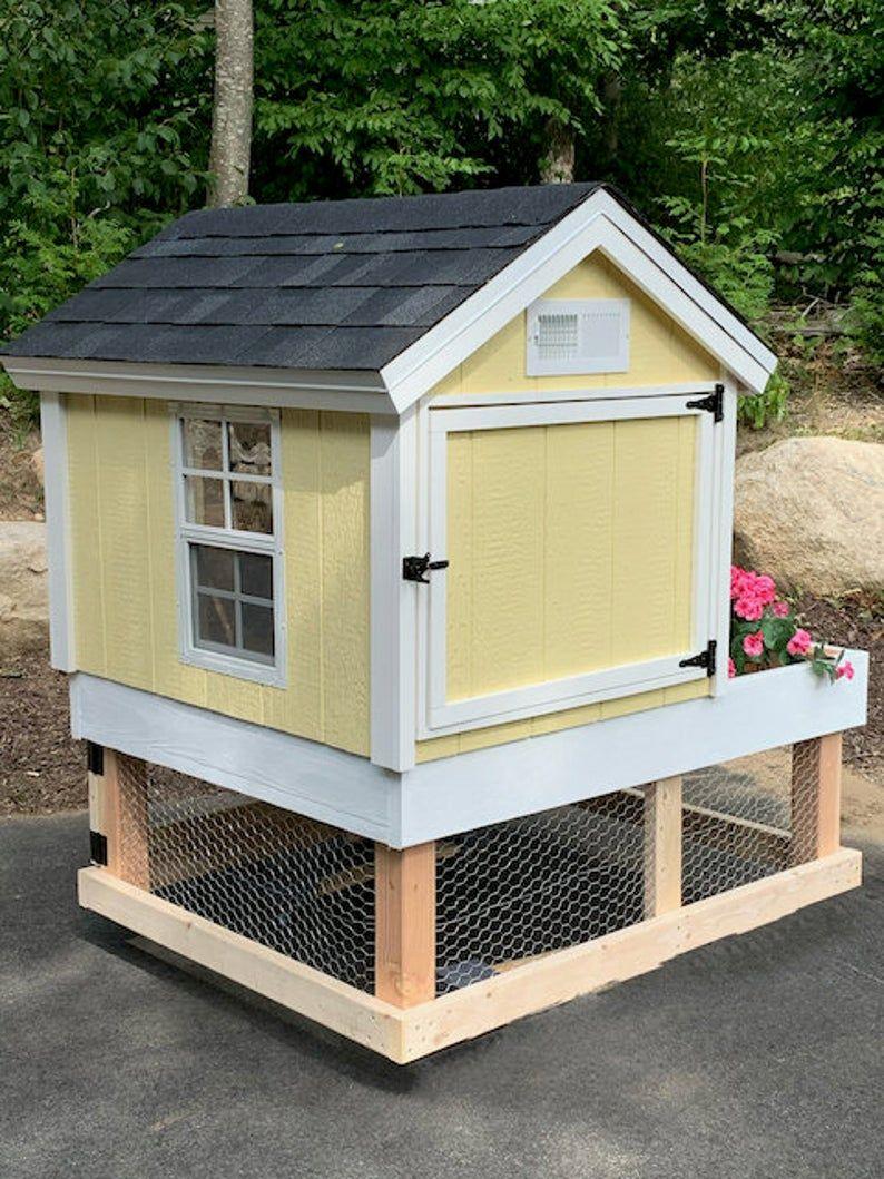 Chicken Coop Plans Pdf Easy 4x5 Diy Garden Chicken Coop Etsy Diy Chicken Coop Plans Simple Chicken Coop Plans Coop Plans Backyard chicken coop plans pdf